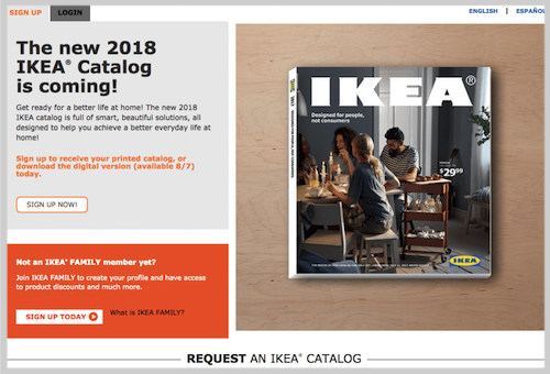 catalog lead magnet